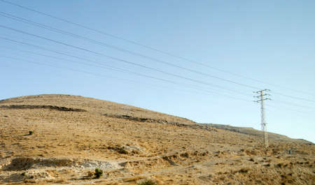 judaean: View of Israel desert with hills and stones close to Ein Gedi