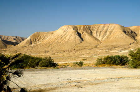 judean hills: Israel deserts mountains and hills, sand and rocks. In the middle of Judean desert Stock Photo