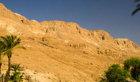 judean hills: Orange mountains and hills in Judean desert, Israel landmarks Stock Photo