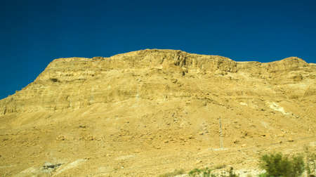 judean hills: Yellow stone mountains in Judean desert, Israel, Middle East