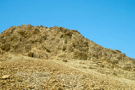 judean hills: Judean desert in Israel where Moses walked with his people for forty years during Old Testament times.