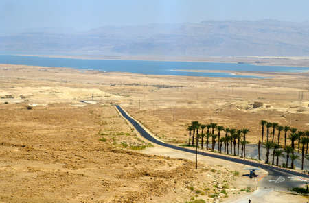 judean hills: Judean desert and Dead Sea in Israel, picturesque view wallpaper