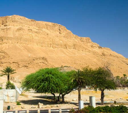 judean desert: Orange mountains in Judean desert in Israel. Old testament scenery