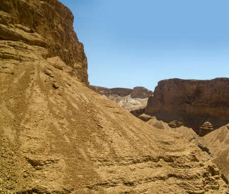 judaean: Israel mountains in Judean desert. Old testament nature scenery from Bible stories about Moses