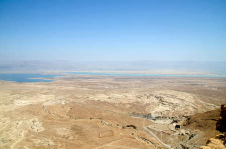 judaean desert: Judean desert and Dead sea as seen from Masada fortress in Israel. Nice mountains, desert rocks and hills at the background