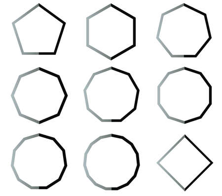 100 Heptagon Set Stock Illustrations, Cliparts And Royalty Free ...