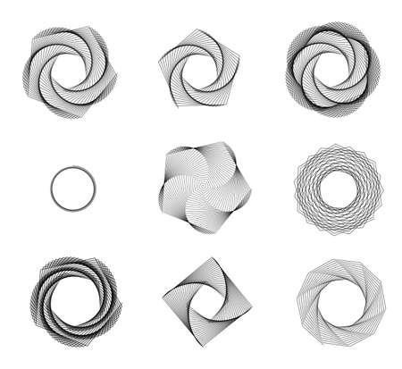 line art: V�rtice incompleta extracto forma aislada sobre fondo blanco Foto de archivo