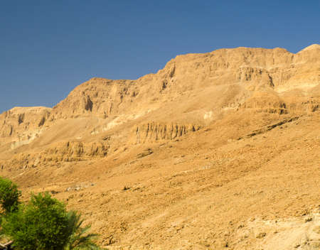 judaean desert: Yellow mountains in Judean desert, legendary places of Old Testament of Bible