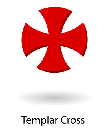 Templar symbol vector silhouette isolated over white background Illustration