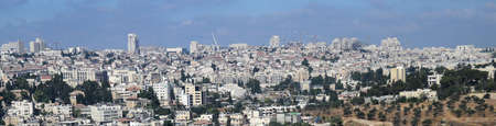Modern Jerusalem panorama view, Middle East contemporary architecture Banco de Imagens
