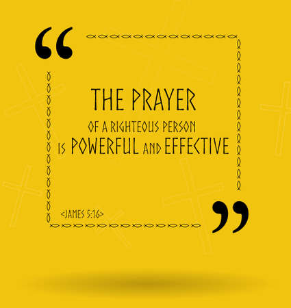 the scriptures: Best Bible quotes about the power of prayer. Christian sayings for Bible studies, colourful illustration Stock Photo
