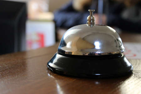 calling for help: Hotel reception bell. Administration bell, calling for help conceptual photo