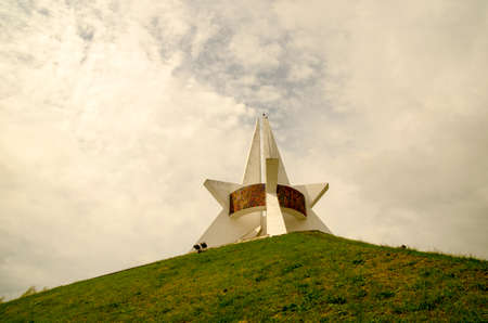 immortality: Monument of Immortality in Bryansk, Russia. Gorgeous memorial to Soviet soldiers
