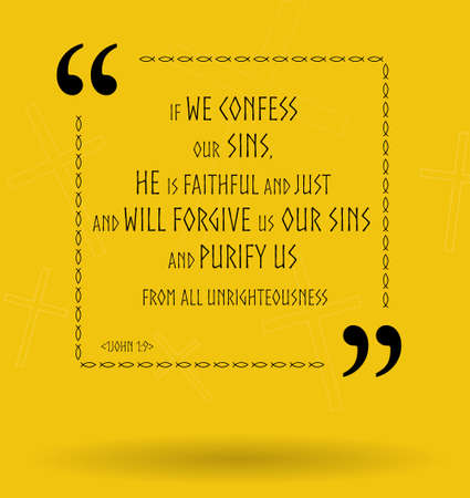 scriptures: Best Bible quotes about how God forgives us our sins. Christian sayings for Bible study flashcards illustration