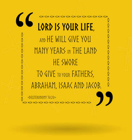 verses: Best Bible quotes about God as our life. Christian sayings for Bible study flashcards illustration