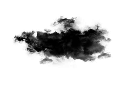 isolated over white: Smoky cloud isolated over white background. Inkblot on white paper