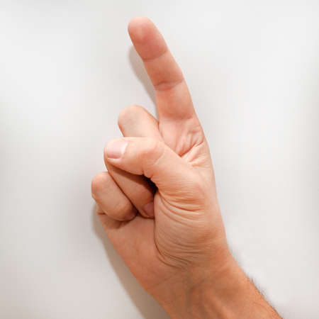 american sign language: Letter Z in American Sign Language (ASL) for deaf people