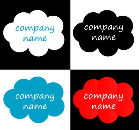 cloudshape: Logo vector shapes collection, logotype conceptual vector illustration