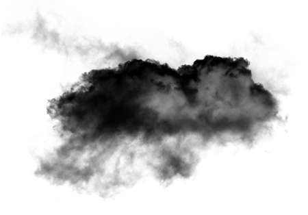 Single cloud of smoke isolated over white background, realistic cloud 3D illustration. Cloud shape rendering
