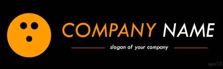 asociacion: Plantilla de logotipo de vector de bolos, logotipo para una empresa o una marca aislada sobre fondo negro, esquema del logotipo, elemento emblema