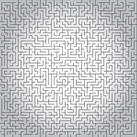 Vector labyrinth background, complicated maze illustration isolated over white background