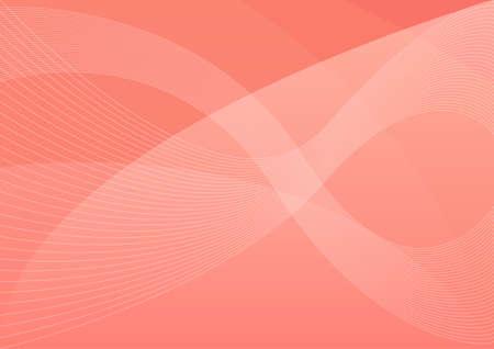 Coral pantone wavy abstract vector background, abstract desktop wallpaper