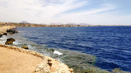 Red sea in summer, Egypt wallpaper background, marine seascape Фото со стока