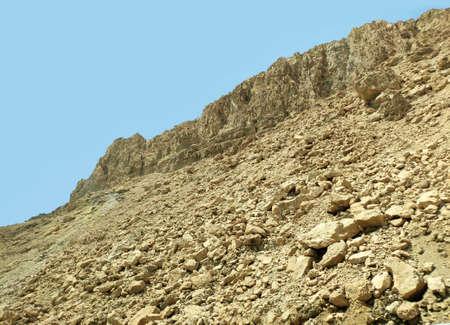 Desert rocks and hills background, Negev desert in Israel, nice touristic location. Summer vacation travel