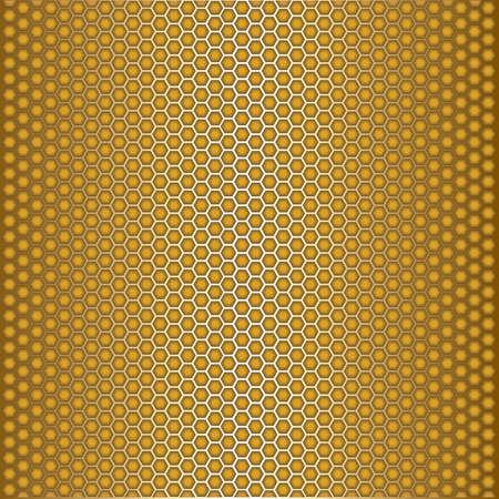 Golden honeycomb background Vector