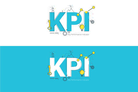 Illustration of Key Performance Indicator (KPI) concept with icons.