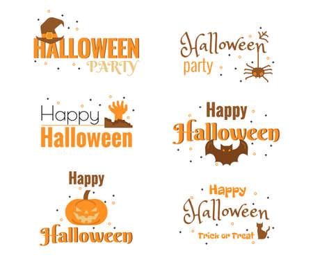 Illustration of Halloween text decoration. Ilustração