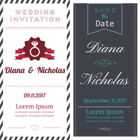 wedding invitation cards design.