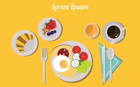 Illustration of breakfast.