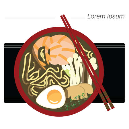 Illustration of ramen.