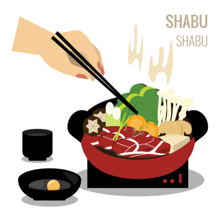 Illustration of shabu.