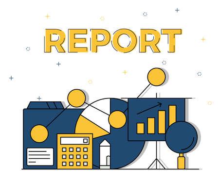Annual report cover. Иллюстрация
