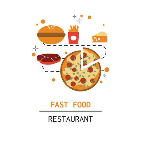fast food illustration. Illustration