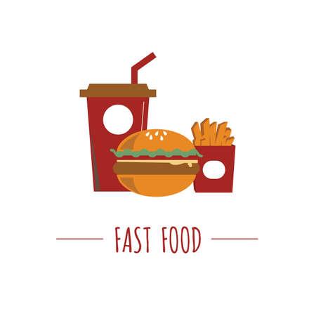 fast food illustration. Иллюстрация