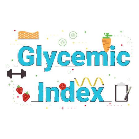 Illustration de l'index glycémique. Vecteurs