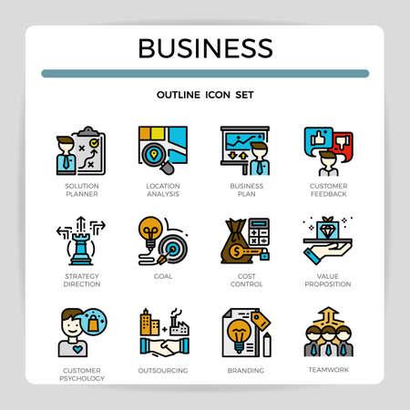 business icon set.