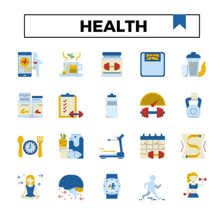 Health and exercise flat icon. Ilustrace