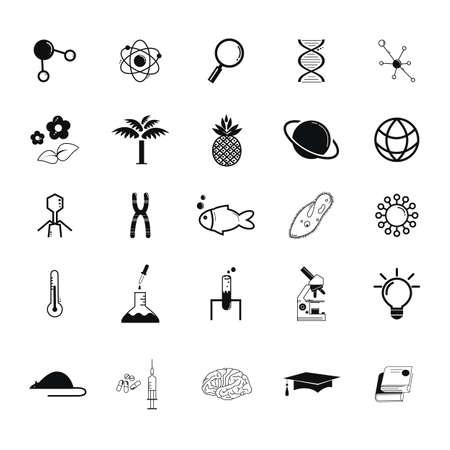 science icon set. Ilustração