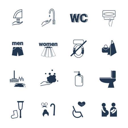 toilet icon set.