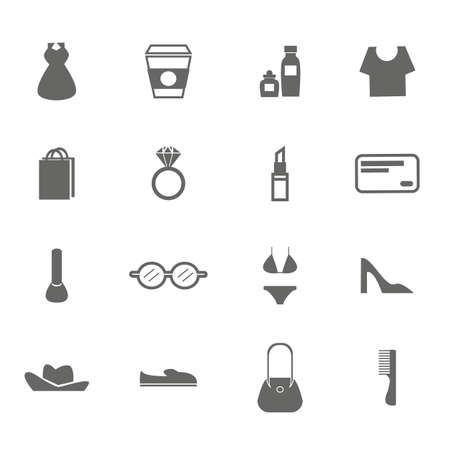 woman accessory icons. Ilustrace