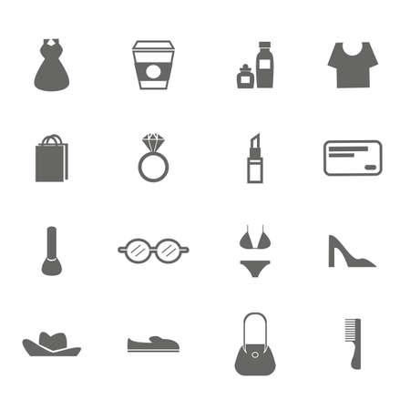 woman accessory icons. Ilustração