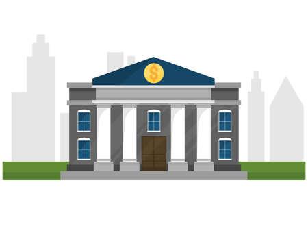 bank illustration for topic, presentation, book. Ilustração
