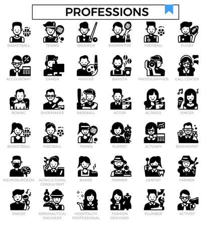 Avatar icon set. Ilustrace
