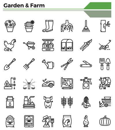 Gardening and farming icon set for farmer,garden issue.