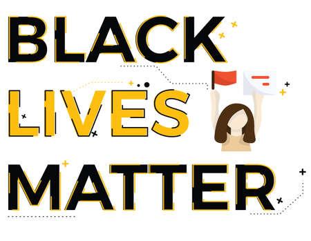 Illustration of black lives matter topic for presentation, website. Ilustração