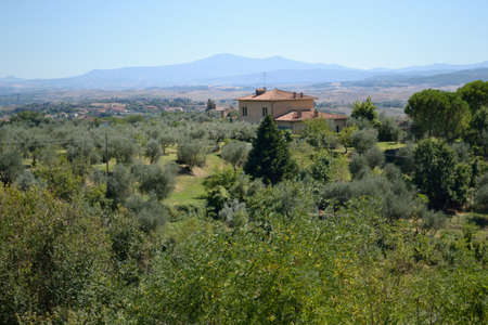 Tuscan landscape house close up  photo